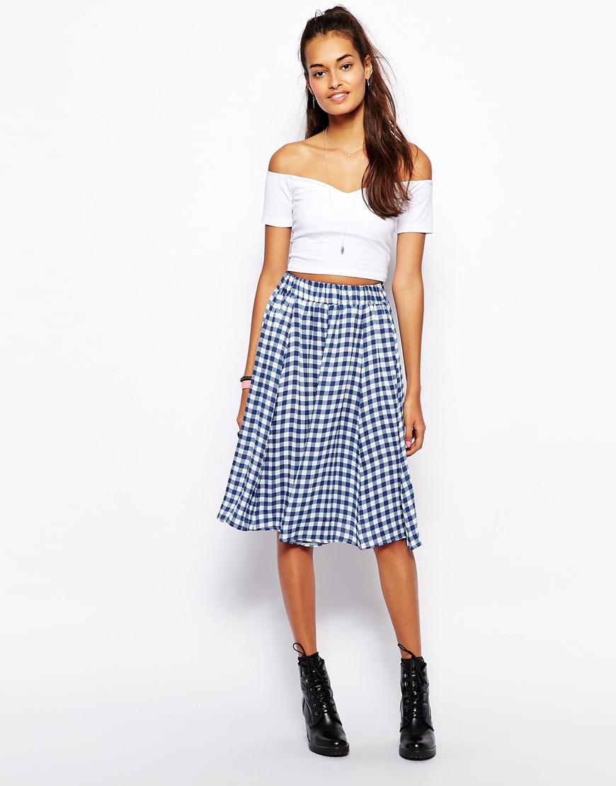 gingham skirt dressed up