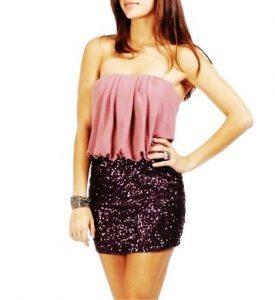 Glitter Mini Skirt
