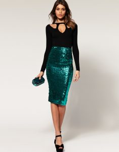 Glitter Pencil Skirt