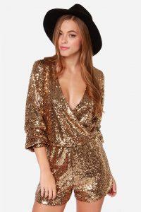 Gold Sequin Romper