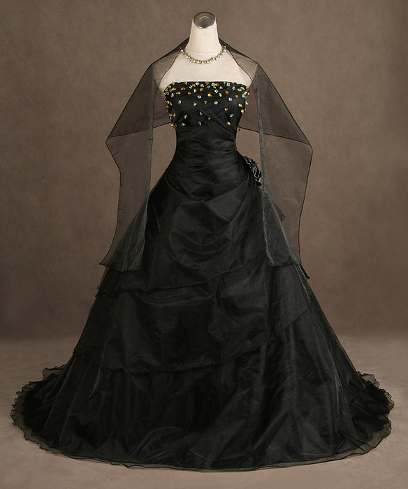 Gothic Black Wedding Dresses Plus Size Ball Gowns Puffy: Dressed Up Girl