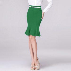 Green Fishtail Skirt