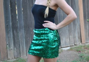 Green Glitter Skirt