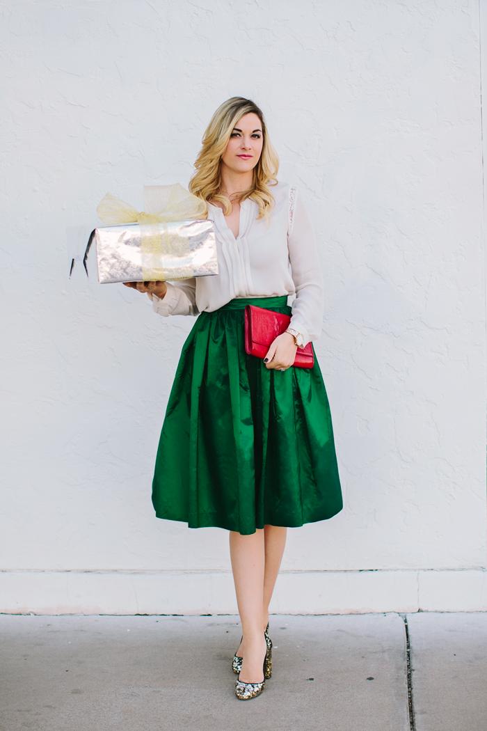 Satin Skirt Dressed Up Girl