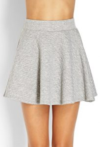 Grey Quilted Skirt