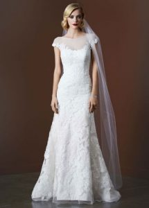 Illusion Neckline Bridal Gown