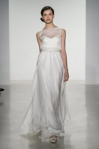 Illusion Neckline Gown