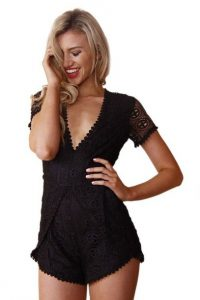 Images of Black Lace Romper