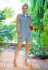 Jean Romper Outfit