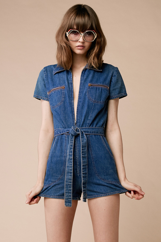 Jean Romper | Dressed Up Girl