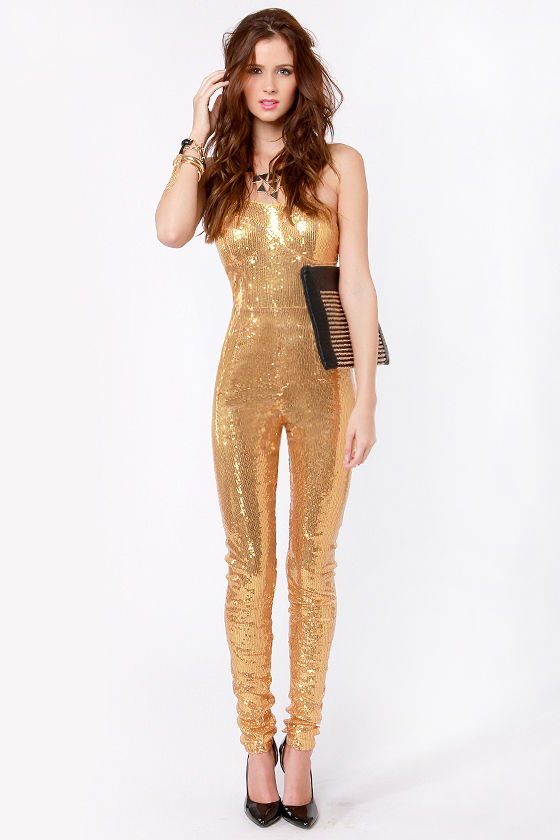 A sequin jumpsuit is the perfect party piece for all year round but especially as we approach the festive season. Ensure you're sparkling with our versatile pieces in black, white or brights, all of which look amazing styled with skyscraper heels, an oversized clutch and a pop of color on the lips.