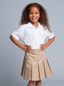 Khaki Uniform Skirts for Juniors