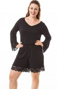 Lace Romper Plus Size