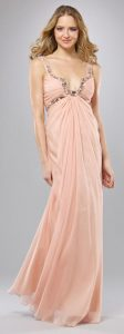 Light Peach Gown