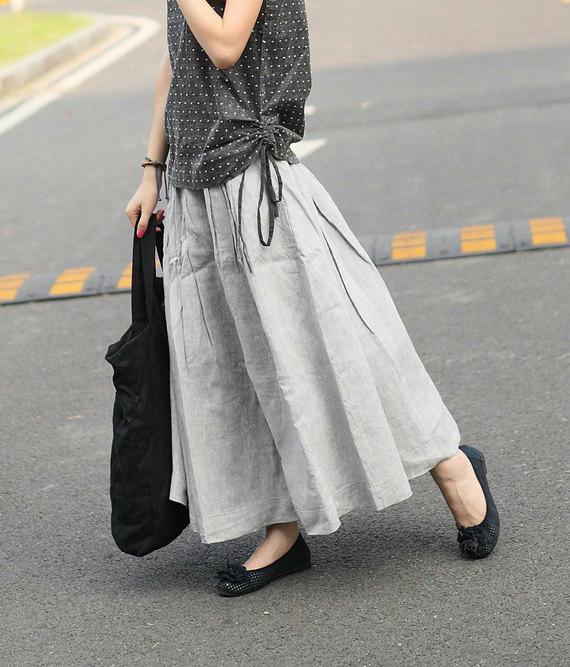 Linen Long Skirt 6eb76fa31055