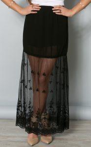 Long Mesh Skirt