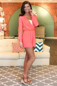 Long Sleeve Romper Outfit