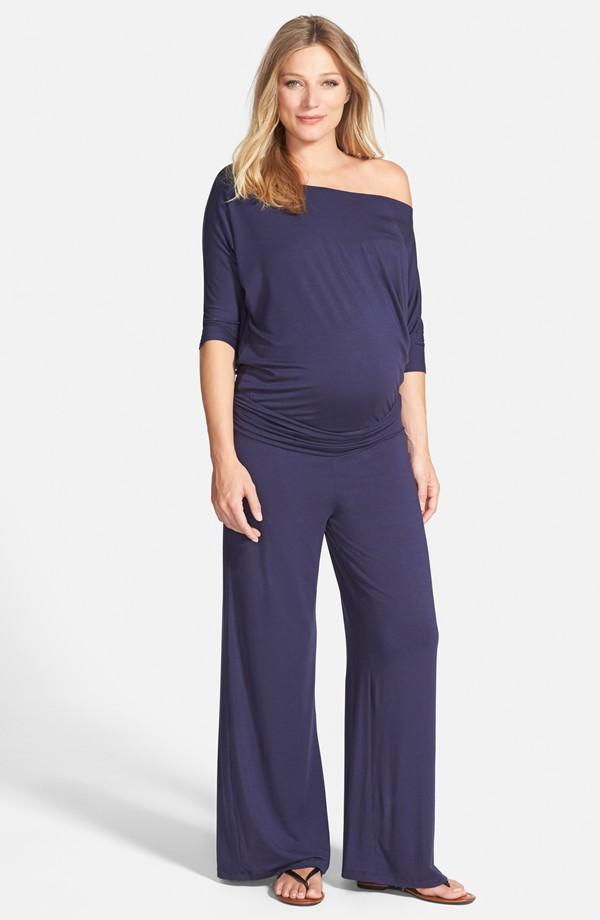 Purple Maternity Dress