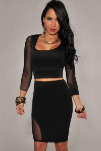 Mesh Bodycon Skirt