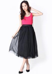 Mesh Skirt Black