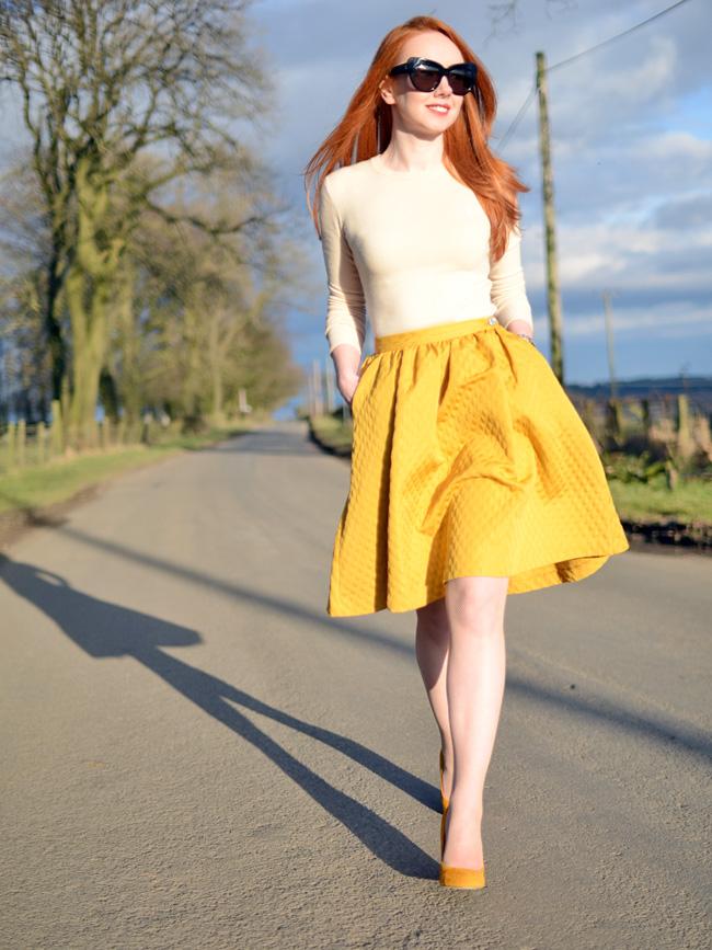 Mustard Skirt Dressedupgirl Com