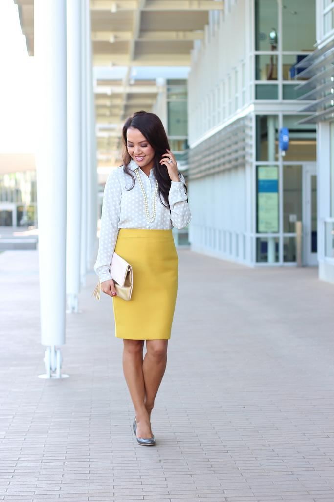 Mustard Skirt Dressed Up Girl