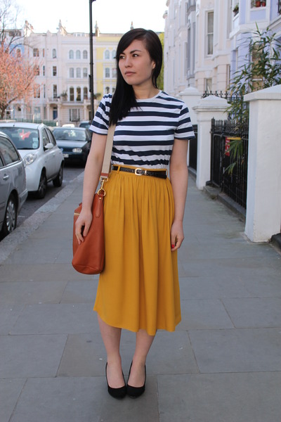 Mustard Skirt Dressed Up Girl