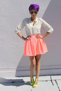 Neon Coral Skirt