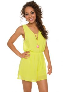 Neon Yellow Romper