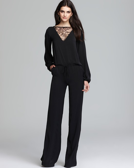 Images of Long Sleeve Black Jumpsuit - Reikian