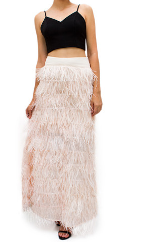 c74419aa95a Ostrich Feather Skirt Dressed