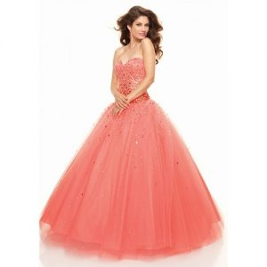 Peach Ball Gown