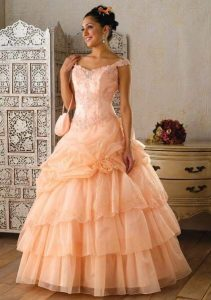 Peach Ball Gowns