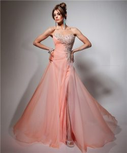 Peach Evening Gown