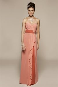 Peach Evening Gowns