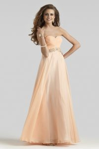 Peach Formal Gowns