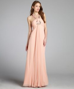 Peach Gown Design