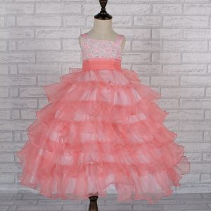 Peach Gown for Kids