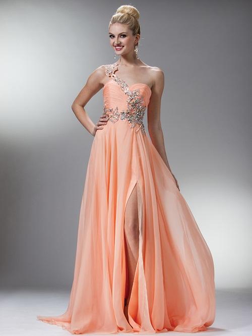 Peach Gown Dressedupgirl Com
