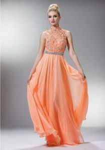 Peach Gowns Dresses