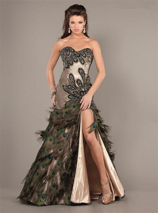 Peacock Gown Dressedupgirl Com
