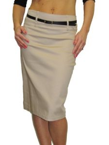 Pencil Skirt Beige