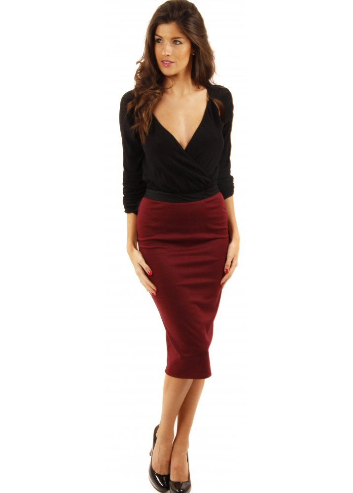 Stretch Pencil Skirt | Dressed Up Girl