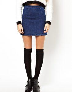 Petite Denim Skirts
