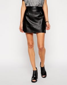 Petite Leather Skirt