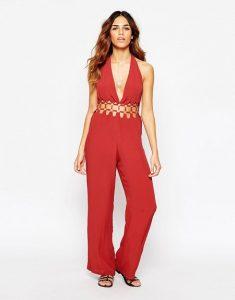 Petite Red Jumpsuit