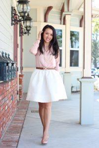 Petite White Skirt