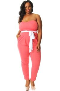Pink Jumpsuit Plus Size
