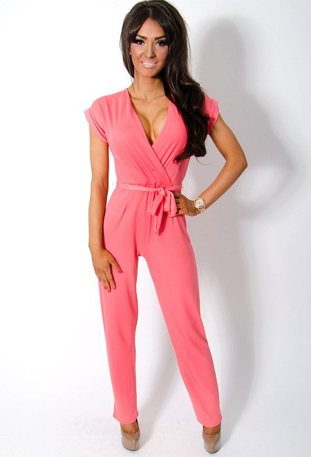 Pink Jumpsuit Dressed Up Girl