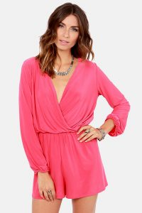 Pink Romper Long Sleeve